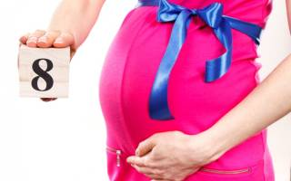 Восьмой месяц беременности: питание, развитие ребенка, роды